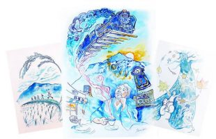 香本博 絵描き男の料理徒然草 原画展